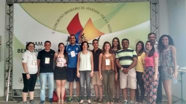 Participação do NuPAF   no X Congresso Brasileiro de Atividade Física e Saúde em São Luís do Maranhão.